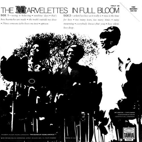 "The Marvelettes : Album "" In Full Bloom "" Tamla Records TS 288 [ US ]"