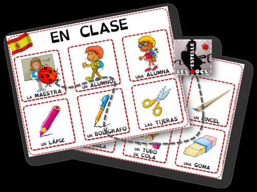 Imagier en espagnol - En clase - estelledocs