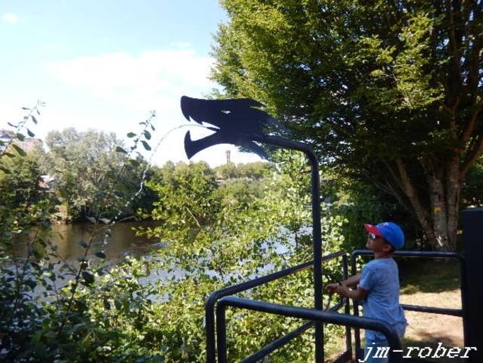 """Un dimanche d'Août au bord de l'eau """" Reflets de Vienne """" 1/2"""