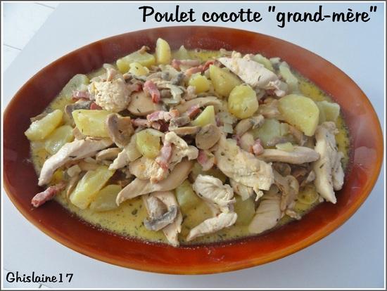 """Poulet cocotte """"grand-mère"""""""