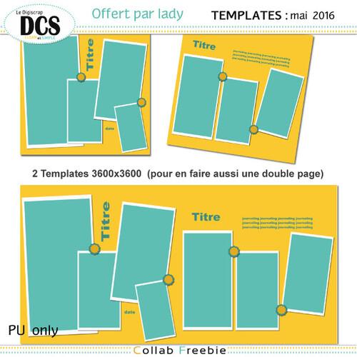Tempates DCS de mai 2016