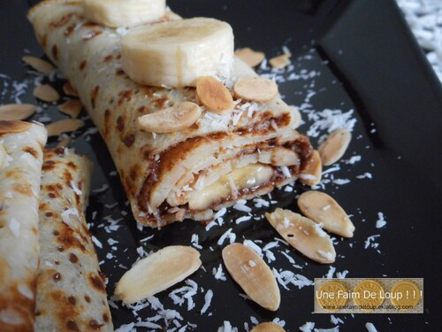 Crêpe coco, banane et nutella