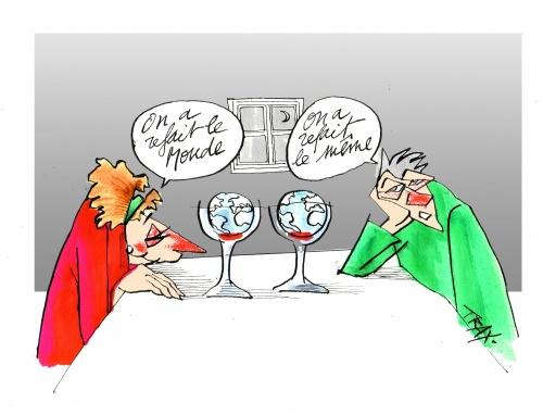 Humour et vigne vin monde