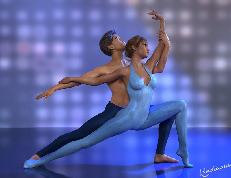 Fond d'écran couple de danseurs