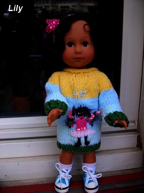 Lily et sa robe-pull jacquard !