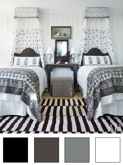 deco chambre noir gris blanc la chambre d ado nuancier d co en nuances - Deco Noir Et Blanc Chambre Ado