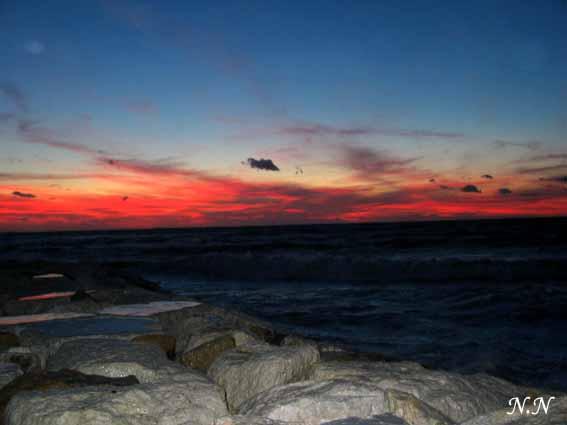 La nature est poésie : soir dans le ciel et sur la mer