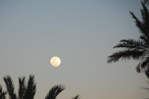 Le soleil avait donné rv à la lune, ce soir