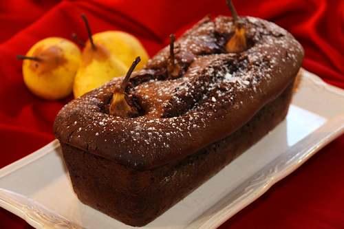 Recette de cuisine : Cake aux poires et chocolat