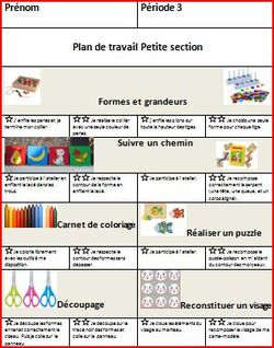 Plan de travail PS