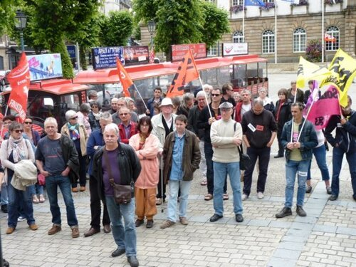 Mardi 28 juin 2016-La journée d'actions et de grèves en Finistère vue par la PQR (Ouest-France)