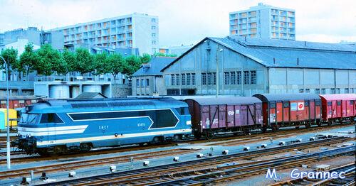 La BB 67476 à Brest