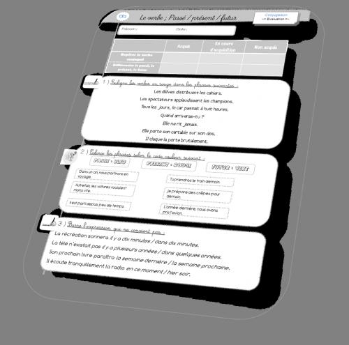Evaluation de conjugaison CE2