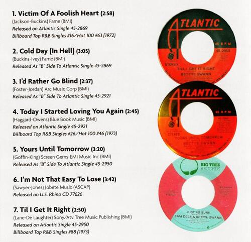 """Bettye Swann : CD """" The Complete Atlantic Recordings """" Real Gone Music Records RGM-0213 [ US ]"""