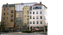 Une peinture du diaporama sur les murs de Lyon