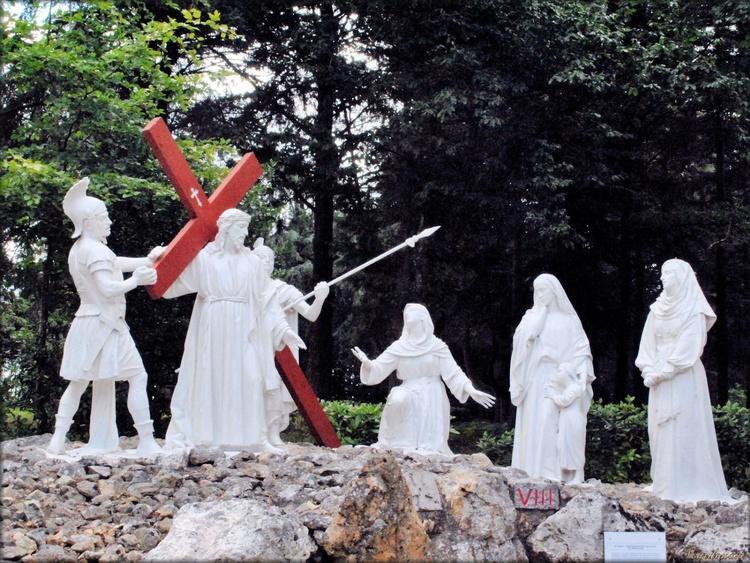 Photo de la rencontre de Jésus avec les filles de Jérusalem