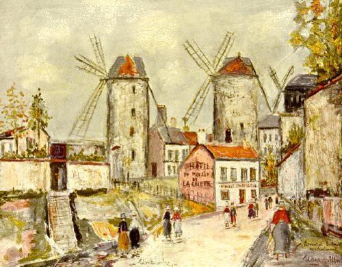 Peinture de : Maurice Utrillo