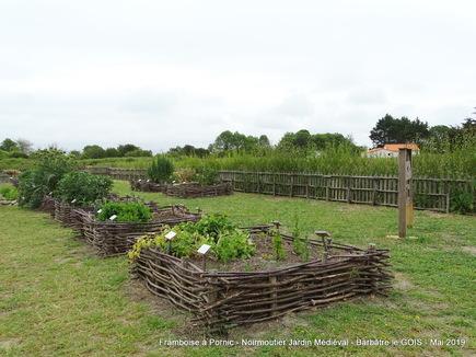 Jardin potager de style médiéval à Noirmoutier