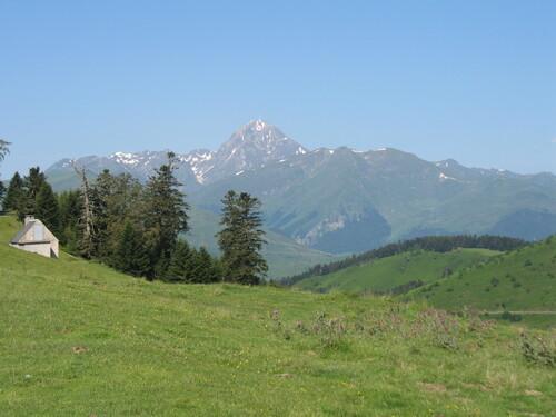 Le Pic du Midi vu du col d'Aspin