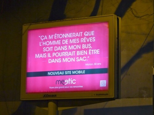 affiche meetic mobile sac