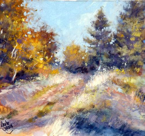 """""""Sentier vers la forêt"""" Claude Carvin"""