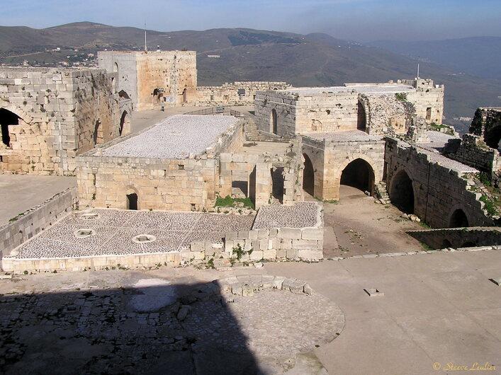 Intérieur du Krak des Chevaliers