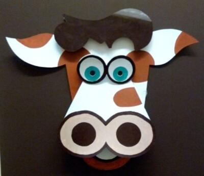 Masque Vache Parthenay centre de loisirs Maurice Caillon