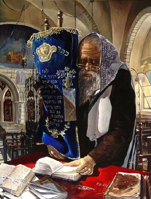 Jewish Life in Art by Alex Levin, Israel.