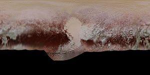 Carte en couleur de Pluton.