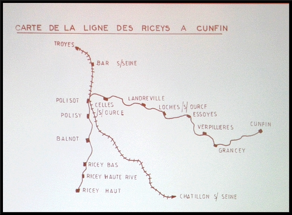Claude Garino a donné une superbe conférence à Mussy, sur les lignes de chemin de fer Troyes-Châtillon et Les Riceys-Cunfin