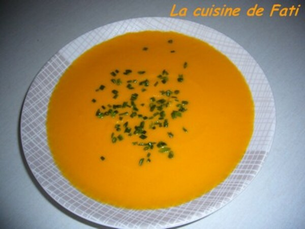 Velouté de carotte coco orange