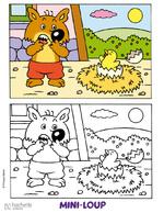 Lecture cp le cartable de mirabelle - Mini loup coloriage ...