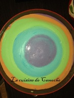Cheesecake citron spéculos, version arc-en-ciel