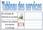 Tableau des services et responsabilités