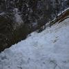 Repassage sur les innombrables coulées de neige