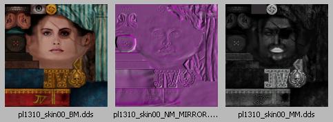 Les 3 textures qui mappent le matériel Jill Valentine M - Visage