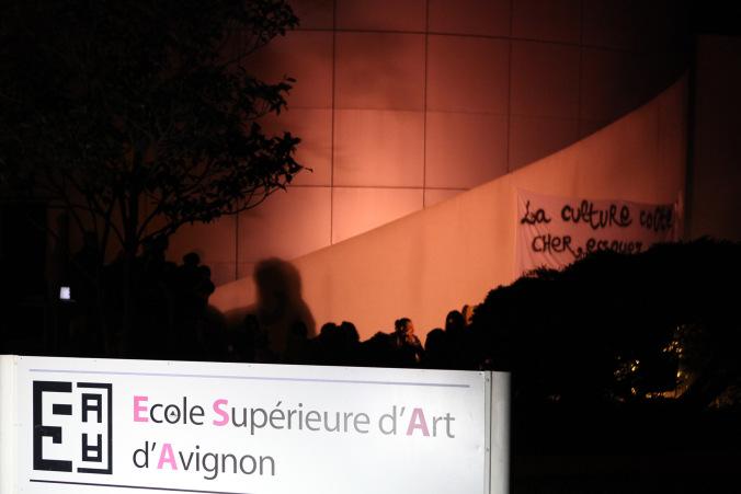 ESAA/ 20 avril : Occupation de l'école d'art d'Avignon