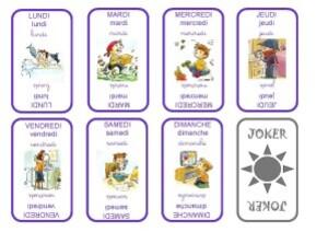 jeu de cartes pour apprendre les jours de la semaine laclassedelila. Black Bedroom Furniture Sets. Home Design Ideas