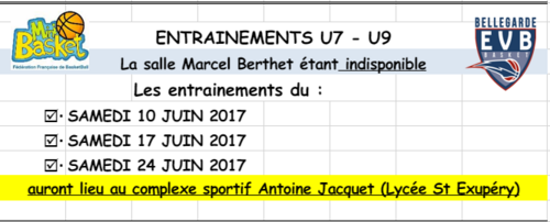 ENTRAINEMENT U7 ET U9