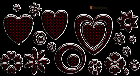 Bandes de décoration avec boutons pour blog page 1