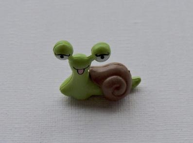 Escargot vert ou rose rigolo miniature
