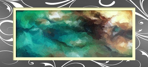 Mélange et ombrage d'une peinture abstraite à l'aide de lavages, technique
