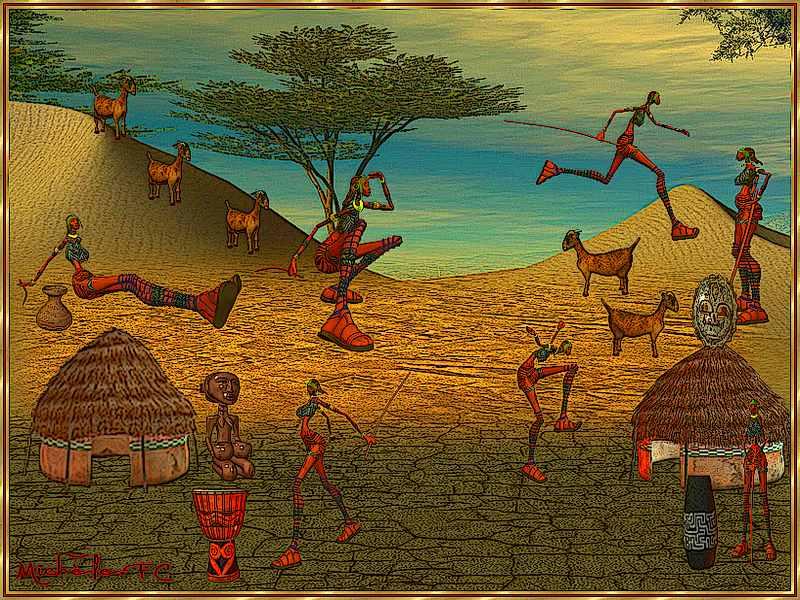 Les p'tits monde d'Afrique.