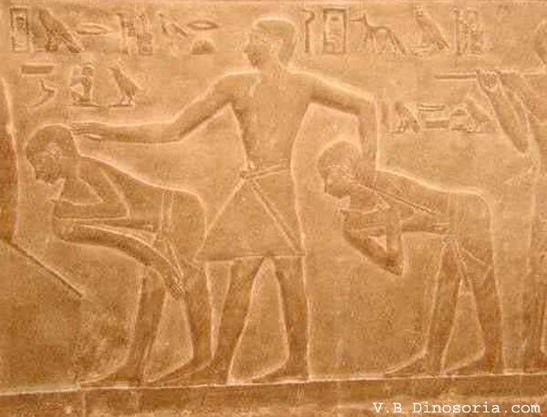 Egypte ancienne. Représentation de jeux de garçons