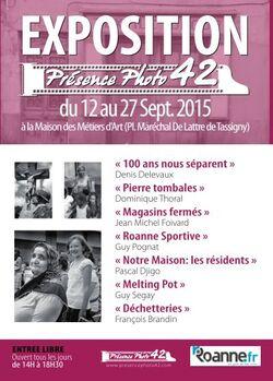 PRESENCE PHOTO 42 A LA MAISON DES METIERS D'ART DU 12 AU 27 SEPTEMBRE