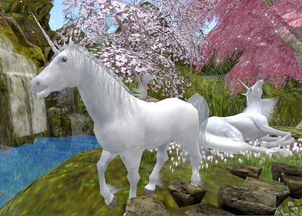 Licornes et Papillon