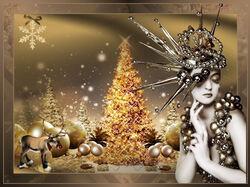 Christmas lady