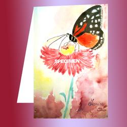 Un beau papillon sur une fleur