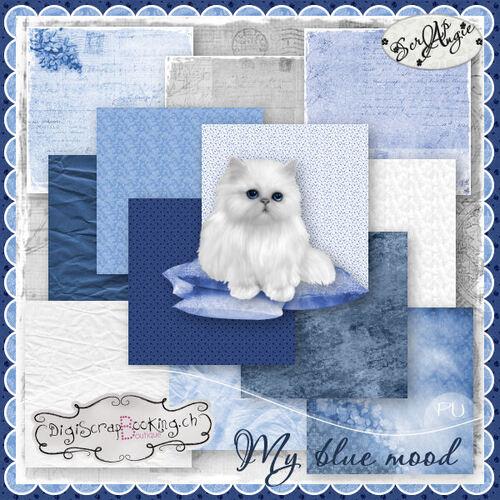 "Kit ""My blue mood"" de Scrap'Angie."