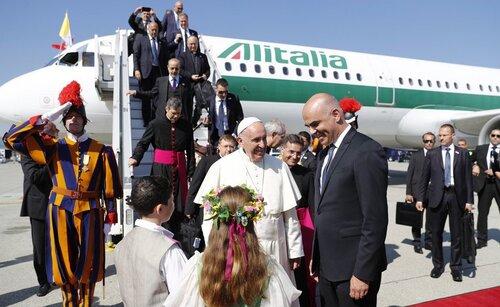 Le pape François à Genève